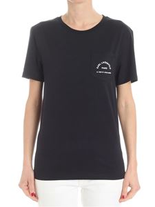 Karl Lagerfeld - Black t-shirt with chest pocket