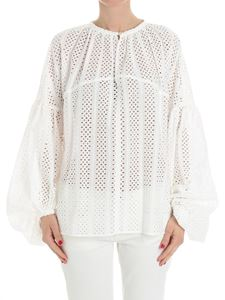 Stella Jean - White broderie anglaise blouse