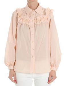 See by Chloé - Pink shirt with ruffles