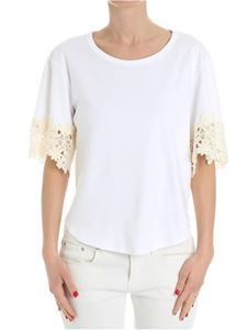 See by Chloé - White top with broderie anglaise inserts