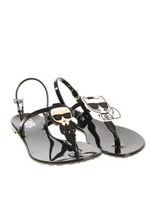 Karl Lagerfeld - Black Karl Ikonic thong sandals