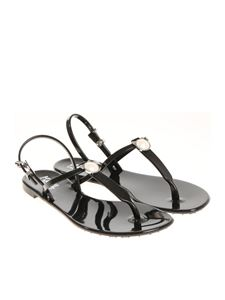 Karl Lagerfeld - Black Jelly Karl Pearl thong sandals