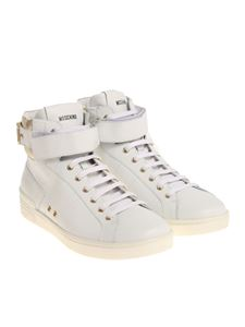 Moschino - White sneakers with logo