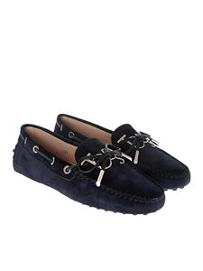 Tod's - Blue leather loafers