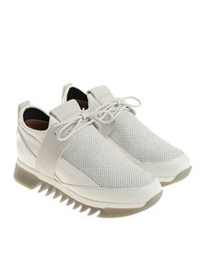 Alexander Smith - White sneakers with laminated insert