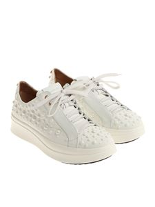 Alexander Smith - White neoprene sneakers