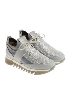 Alexander Smith - Gray sneakers with laminated insert
