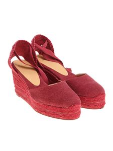 Castaner - Bordeaux Carina wedge sandals