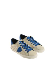 Philippe Model - White and blue Paris L sneakers