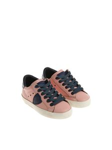 Philippe Model - Pink and blue Paris L sneakers