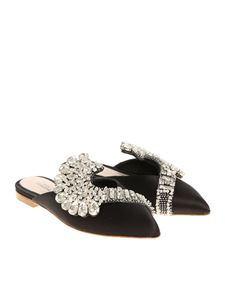 Paula Cademartori - Satin mules with rhinestones