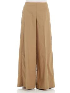 Jucca - Wide camel-colored trousers