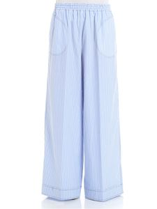 Jucca - Light blue and white striped trousers