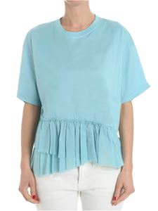 Jucca - Light blue T-shirt with flounce