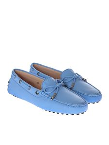 Tod's - Light blue leather moccasins