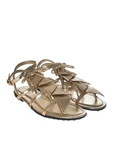 Tod's - Golden fringed sandals