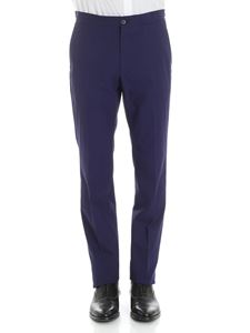 Z Zegna - Blue trousers with drawstring