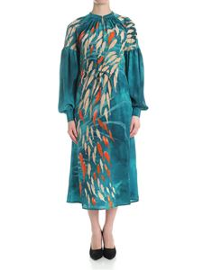 Stella Jean - Teal color dress with fish prints