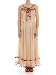 Red Valentino - Beige dress with lace and beads