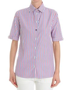 Stella Jean - White shirt with red and blue stripes