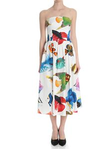 Stella Jean - White dress with fishes print