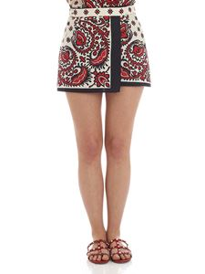 Red Valentino - Cream, red and black culottes pants