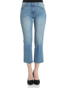7 For All Mankind - Blue Cropped Boot jeans