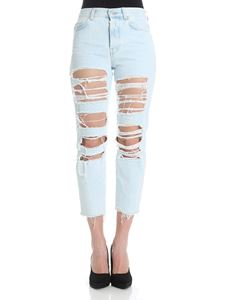 7 For All Mankind - Light-blue Josefina Ice Distressed jeans