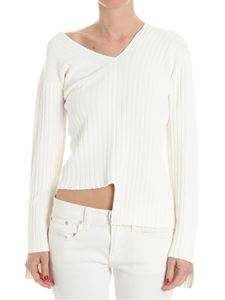 Helmut Lang - Cream-color ribbed sweater