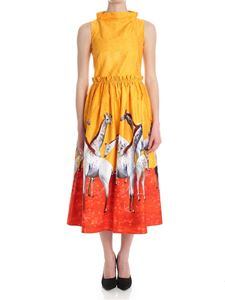 Stella Jean - Yellow and red dress with giraffe prints