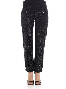 Balmain - Black 5-pocket jeans with sequins