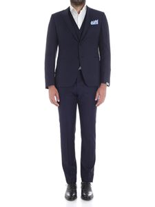 Cantarelli - Blue two buttons light wool suit