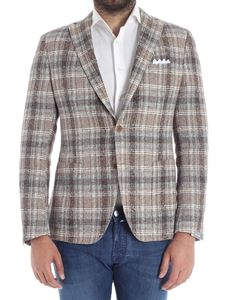 Cantarelli - Beige two bottons checked jacket