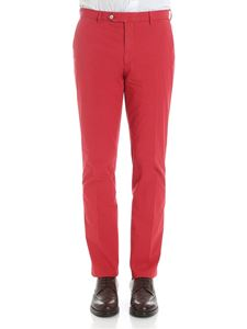 Hackett London - Red cotton trousers