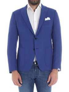 Cantarelli - Blue two bottons woven fabric jacket