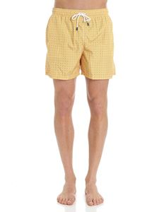 FEDELI Swim&Wear - Yellow Madeira swimsuit with floral print