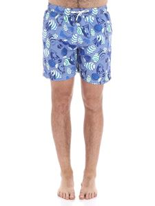 Hackett London - Light blue boxer with fishes print