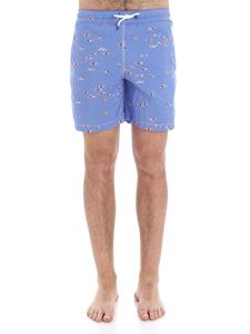 Hackett London - Light blue boxer with swimmers print