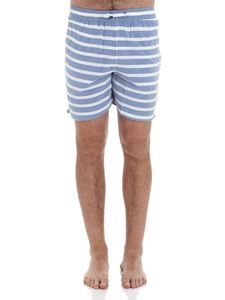 Hackett London - White and blue striped boxer