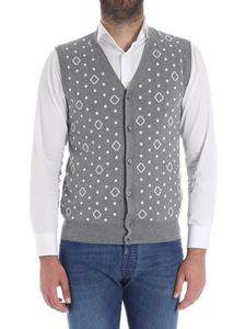 Roda - Gray polka dots and rhombus vest