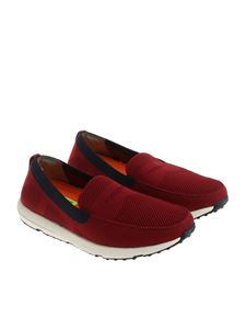 Swims - Burgundy Breeze Leap Knit Penny moccasins