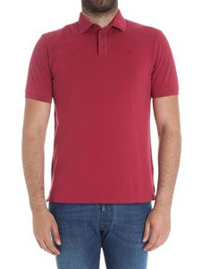 Hackett London - Burgundy polo shirt with embroidered logo