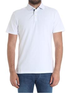 Hackett London - White polo with logo embroidery