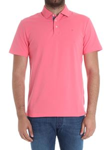 Hackett London - Pink polo with logo embroidery