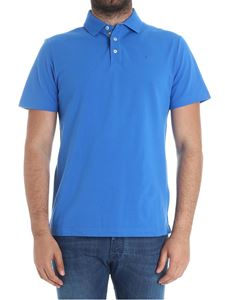 Hackett London - Light blue polo with logo embroidery