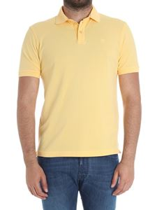 Hackett London - Yellow polo with logo embroidery