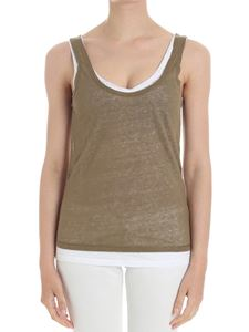 Majestic Filatures - Army green and white top