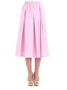 THE EDITOR - Pink and white vichy skirt