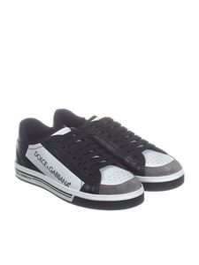 Dolce & Gabbana - Black coated cotton sneakers