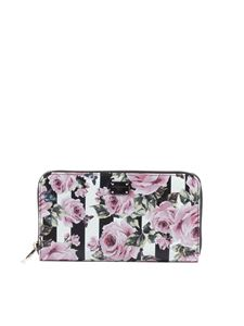 Dolce & Gabbana - Dauphine leather wallet with roses print